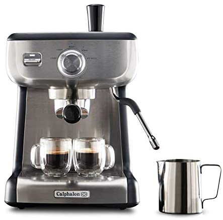 Read more about the article Calphalon BVCLECMP1 Temp iQ Espresso Machine with Steam Wand, Stainless Steel
