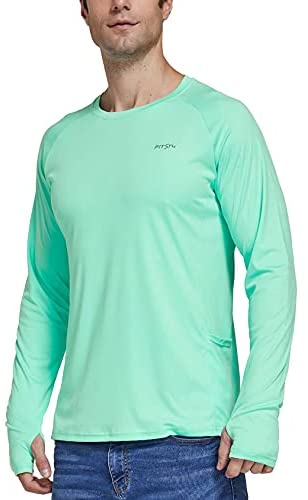 Read more about the article FitsT4 Men's UPF 50+ UV Sun Protection Performance Shirts Long Sleeve Outdoor SPF T Shirt Tops Fishing Hiking Running