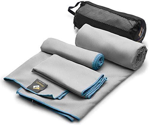 Read more about the article OlimpiaFit Microfiber Towels – Quick Dry 3 Size Pack (51inx31in, 30inx15in, 15inx15in) Camping, Sports, Beach, Backpacking, Gym, Travel Towels with Bag – Soft, Compact, Lightweight