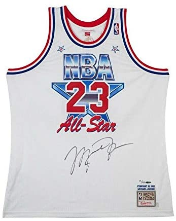 Read more about the article Michael Jordan Autographed 1991 Mitchell & Ness All-Star Jersey Bulls #/123 UDA – Autographed NBA Jerseys