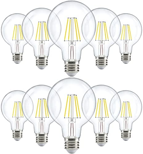 Read more about the article Sunco Lighting 10 Pack G25 LED Bulb, Dimmable, 5.5W=60W, 3000K Warm White, Vintage Edison Filament Globe, 500 LM, E26 Base, Indoor/Outdoor Lights – UL