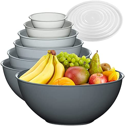 Read more about the article 12 Piece Plastic Mixing Bowls Set, Colorful Nesting Bowls with Lids, 6 Prep Bowls and 6 Lids – Color Food Storage for Leftovers, Fruit, Salads, Snacks, and Potluck Dishes – Microwave and Freezer Safe