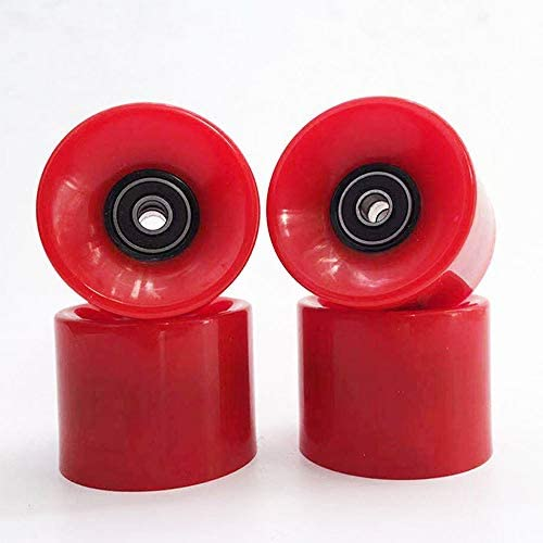 Read more about the article YTKD 60mm Skateboard Wheels 80a + ABEC-9 Bearing Steel and Spacers Cruiser Wheels,red (Pack of 4)