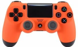 Soft Touch Orange Wireless Custom Controller for Playstation 4 PS4