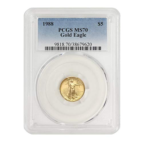 Read more about the article 1988 1/10 oz American Gold Eagle MS-70 by CoinFolio $5 MS70 PCGS