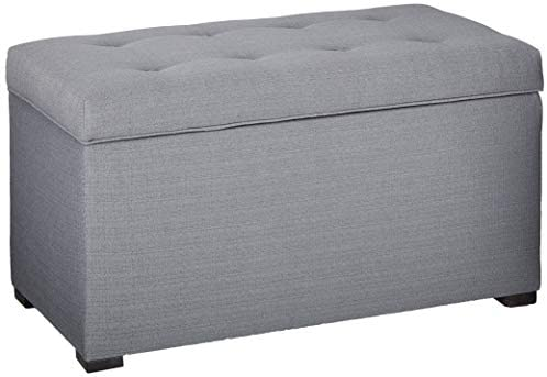 Read more about the article MJL Furniture Designs Angela Collection Button Tufted Upholstered Lift Top Medium Sized Bedroom Chest Storage Trunk, HJM100 Series, Dark Gray