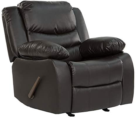 Read more about the article Casa Andrea Milano llc Rocker Recliner Living Room Chair in Bonded Leather, Brown