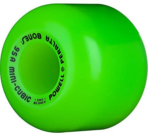 Read more about the article Powell Peralta Mini Cubic Skateboard Wheels 64mm 95A (Green) by Powell-Peralta