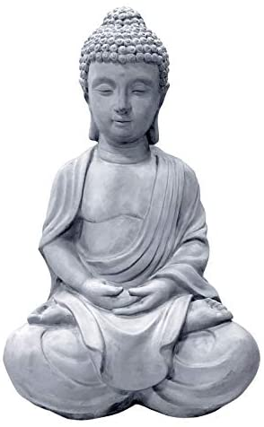 Read more about the article Kante R141006-C80021 Lightweight Sitting Meditating Buddha Zen Indoor Outdoor Statue, Natural Concrete