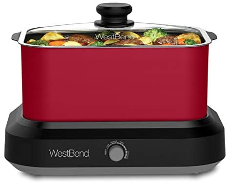 Read more about the article West Bend 87906R Versatility Slow Cooker Large Capacity Non-stick Dishwasher Safe Variable Temperature Control Includes Travel Lid & Thermal Carrying Case, 6-Quart, Red