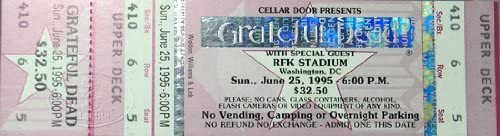 Read more about the article Unused Concert Ticket For Grateful Dead & Bob Dylan 1995 RFK Performance