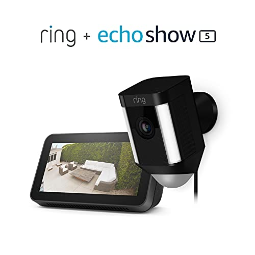 Read more about the article Spotlight Cam Wired (Black) Bundle with Echo Show 5 (2nd Gen)