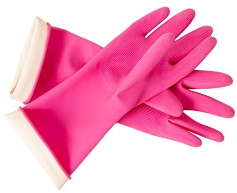 Read more about the article DABOGOSA Mamison Reusable Waterproof Household Dishwashing Cleaning Rubber Gloves, Non-Slip Kitchen Glove (Pink, Small)