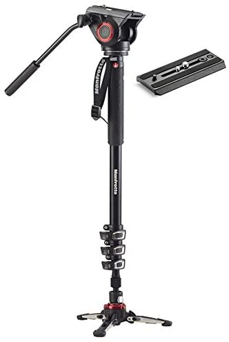 Read more about the article Manfrotto Xpro Aluminum Video Monopod with 500 Series Video Head, Bundled with Extra ZAYKIR Video Plate
