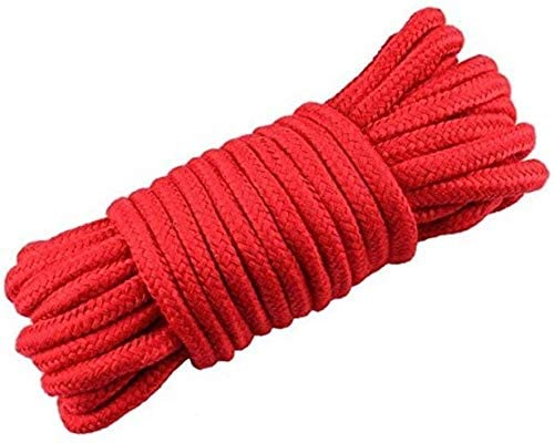 Read more about the article Soft Cotton Rope-32 feet 10m Multi-Function Natural Durable Long Rope DIY Project (Red)