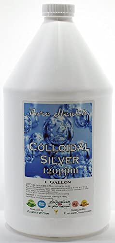 Read more about the article 1 Gallon Certified Lab Tested Colloidal Silver 120ppm in Non-leeching Plastic Jug + Free Filled Dropper Bottle By Pure Health Discounts, a Source You Can Trust