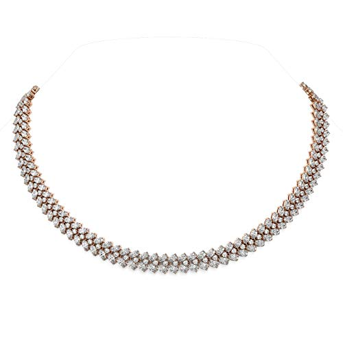 Read more about the article 54.5 ctw Oval Diamond Designer Necklace 18K