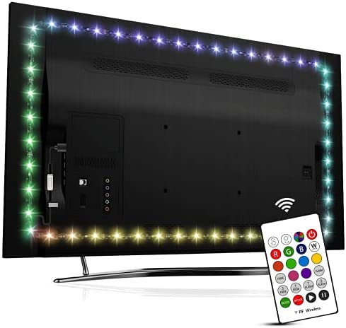 Read more about the article TV LED Backlights for 50 to 55 Inch TV, Hamlite 11.5Ft LED Strip Lights Syn on/Off with TV, 16 Colors Changing Bias Lighting, Under TV Stand Work Space LED Background Ambient Lighting
