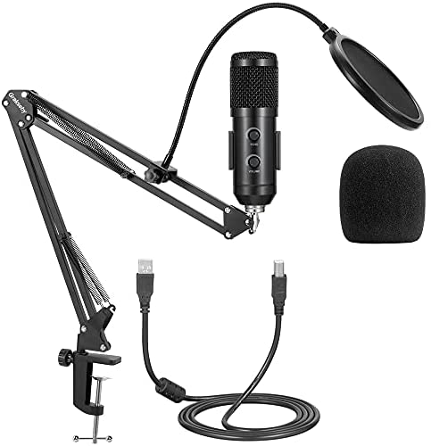Read more about the article LHK Microphone Stand, Heavy Duty Arm Holder, Suspension Mic Clip with Shock Mount and Dual Layered Pop Filter, for Streaming, Recording, Games