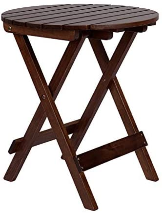 Read more about the article TEEGUI Adirondack Side Table, in Solid Wood Round Folding Patio End Table,Coffee Table,Garden Table Multifunctional and Portable Indoor or Outdoor Side Table