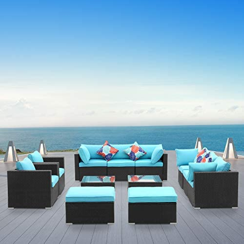 Read more about the article GDY 12 Pieces Outdoor Furniture Sets, Patio Sectional Sofa Sets with Cushions, Pillows and Coffee Table