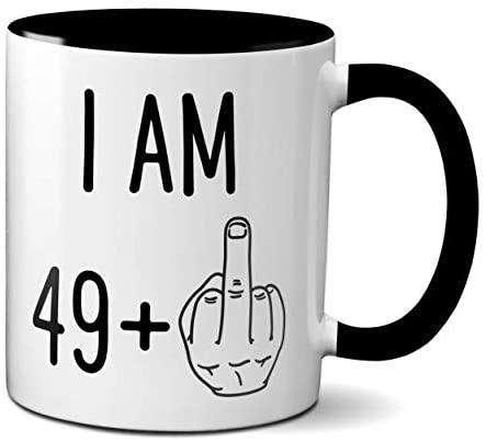 Read more about the article 50th Birthday Funny Gift for Women or Men | Turning 50 Years Old Happy Birthday Coffee Mug | Gag Novelty Cup | Fiftieth Bday Party Celebration | Adult Birthday Presents (11oz, black handle)