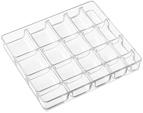 Read more about the article iDesign Linus BPA-Free Plastic Divided Jewelry Organizer Tray – 8.75″ x 7.75″ x 1.25″, Clear
