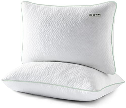 Read more about the article Sleepmax Memory Foam Pillows 2 Pack King Size, Gel Infused Shredded Memory Foam Cooling Pillows for Sleeping,CertiPUR-US Certified Bed Pillow for Side and Back Sleepers with Removable Cover