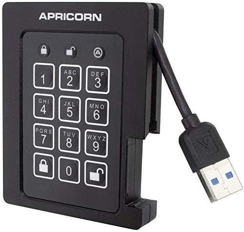 Read more about the article Apricorn 2TB Aegis Padlock SSD 256-Bit, FIPS 140-2 Level 2 Validated Ruggedized USB 3.0 Encrypted External Portable Drive (ASSD-3PL256-2TBF)
