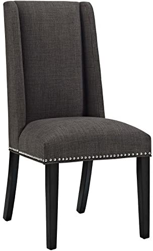 Read more about the article Modway MO- Baron Modern Tall Back Wood Upholstered Fabric, Dining Chair, Brown