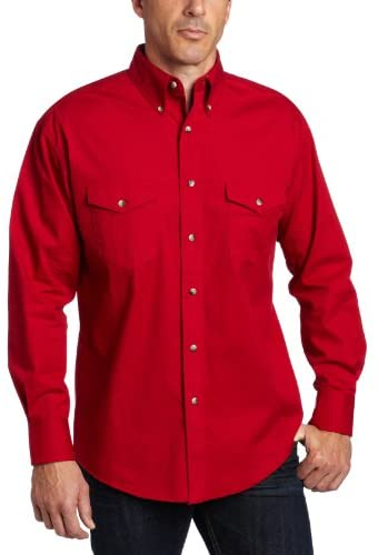 Read more about the article Wrangler Men's Big & Tall Western Long Sleeve Button Work Shirt