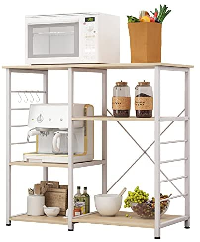 Read more about the article sogesfurniture 3-Tier+3-Tier Kitchen Baker's Rack Utility Storage Shelf Microwave Stand 35.4 Inches Storage Cart Workstation Shelf, Maple Color, BHUS-KS-LD-008-MO