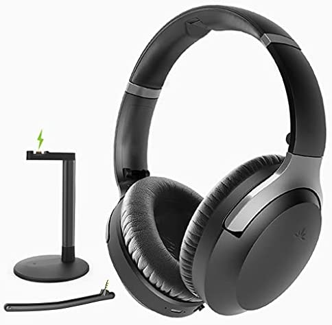 Read more about the article Avantree Aria Podio Wireless Noise Cancelling Headphones with Charging Dock Base, Bluetooth 5.0 Over Ear Headset with Boom Mic for Meeting, Home Office Online Class or Work on PC Phone Computer Laptop