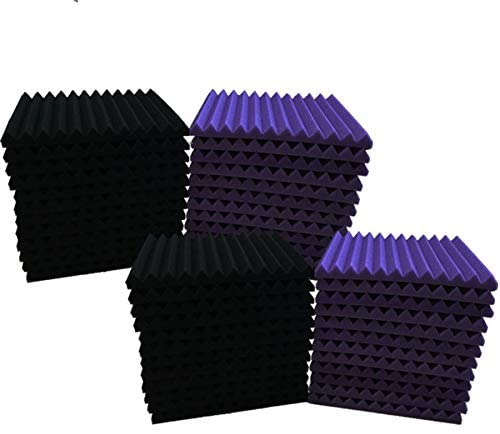 Read more about the article 48 Pack purple BLACK 1″ x 12″ x 12″ Acoustic Wedge Studio Foam Sound Absorption Wall Panels