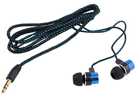 Read more about the article 200Hz – 20000KHz Universal Braided Wired in-Ear Earphone Stereo Headphone for Phone Tablet Blue