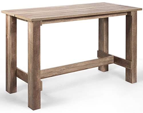 """Read more about the article Giantex Counter Height Dining Table, 55""""L x25.5""""W x35.5""""H Rectangular Counter Table, Multifunctional Table for Dining Room, Kitchen, Bar, Pub, Bistro"""