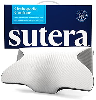 Read more about the article SUTERA Dream Deep Memory Foam Pillow for Sleeping, (Grey/White),