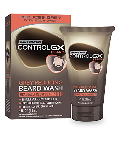 Read more about the article Just For Men Control GX Grey Reducing Beard Wash Shampoo, Gradually Colors Mustache and Beard, Leaves Facial Hair Softer and Fuller, 4 Fl Oz – Pack of 1