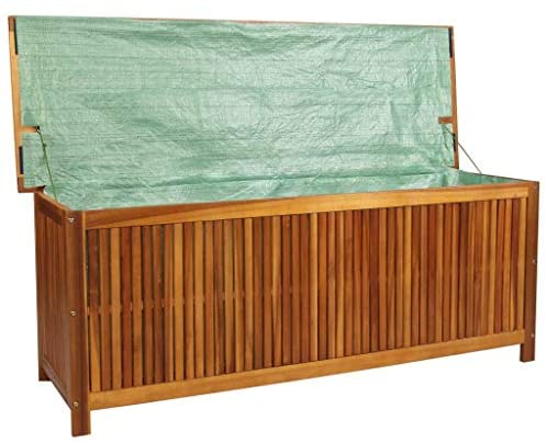 Read more about the article Tidyard Outdoor Patio Garden Storage Chest Deck Box, Solid Acacia Wood 59″ x 19.7″ x 22.8″