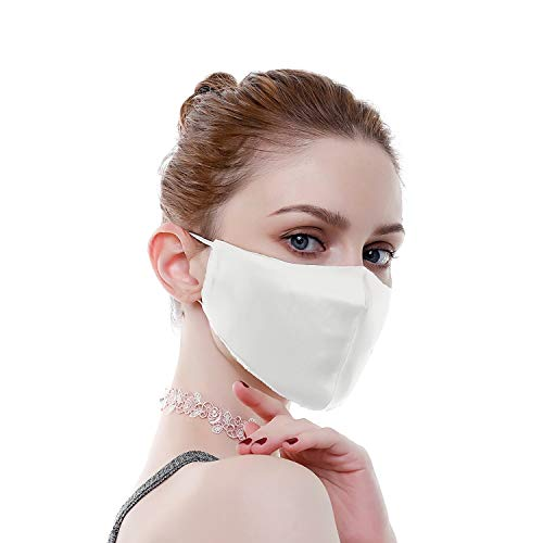 Read more about the article 100% Mulberry Silk Resuable Sensitive Face Masks for Women Washable Luxury Face Scarf Adjustable Bandanas Unisex,White