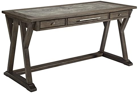 Read more about the article Signature Design by Ashley Luxenford Home Office Large Leg Desk Grayish Brown
