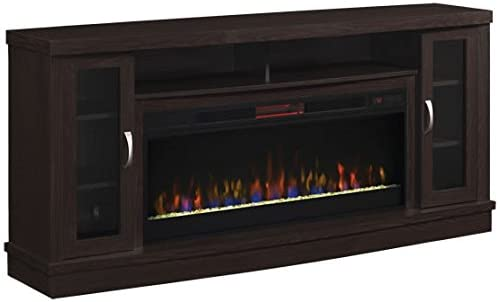 Read more about the article ClassicFlame Hutchinson Infrared Electric Fireplace Entertainment Center, Oak Espresso