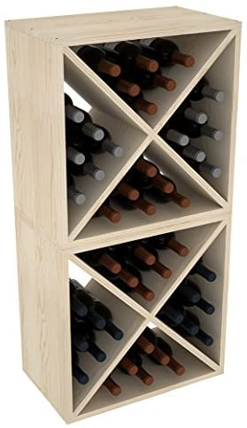 Read more about the article Creekside 24 Bottle Stackable Wine Cubes (Set of 2), 12″ Deep, Pine