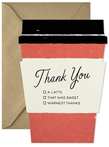 Read more about the article Hallmark Pack of Thank You Cards (15 Thank You Notes with Envelopes, Coffee Cup) (5STZ1024)