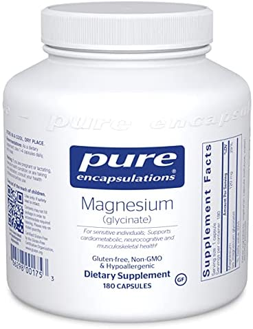 Read more about the article Pure Encapsulations – Magnesium (Glycinate) – Supports Enzymatic and Physiological Functions – 180 Capsules