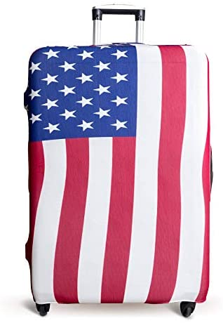 Read more about the article Luggage Cover Suitcase Protector Fits 19-33 Inch TSA Approved Travel Suitcase Cover Washable Dustproof Anti-Scratch (L (26-30 inch), American Flag)