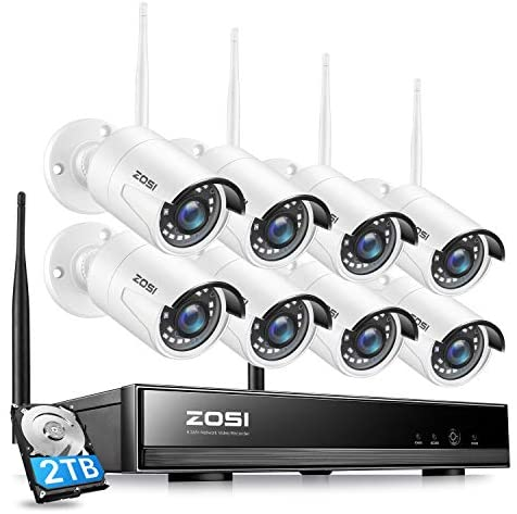 Read more about the article ZOSI H.265+ 8CH 1080P Wireless Security Camera System with 2TB Hard Drive,8Channel 1080P CCTV NVR, 8PCS 1080P 2.0MP Indoor Outdoor Surveillance IP Cameras with Night Vision,Motion Alert, Remote Access