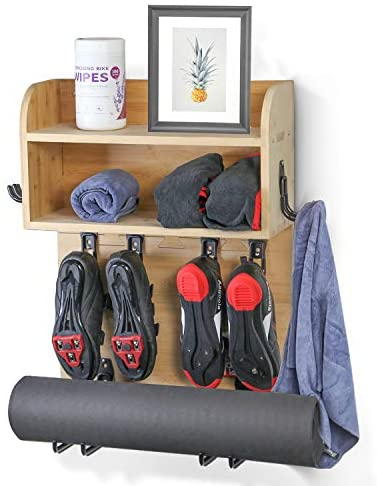Read more about the article Multi-functional Home Gym Wall Mount Rack Shelf Organizer for Towel, Yoga Mat, Exercising Bike Shoes, Exercise Bands and So on – Ideal Accessories for Peloton, NordicTrack, and Echelon