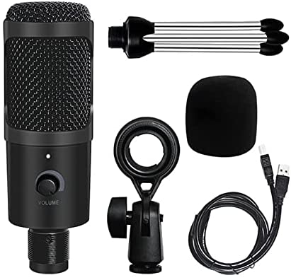 Read more about the article ZRNG Professional USB Condenser Microphones for PC Computer Laptop Singing Gaming Streaming Recording Studio YouTube Video Microfon (Color : Black)