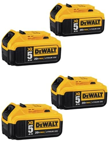 Read more about the article DewaIt 20V Max XR 20V Battery, 5.0-Ah, 4-Pack (DCB205-4)